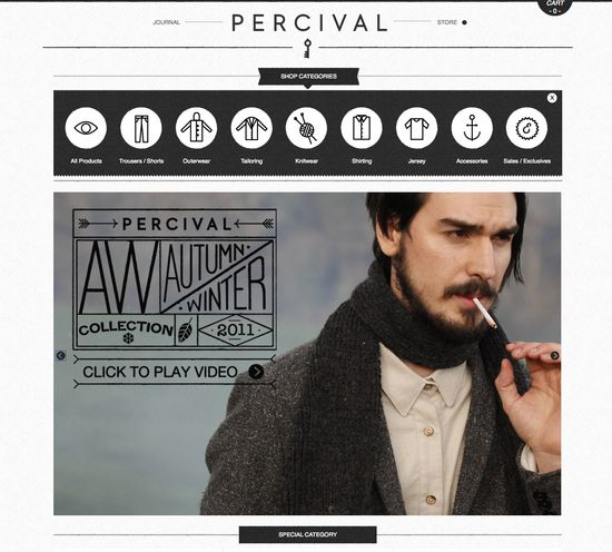 loving this ecommerce design / www.percivalclo.com/ #web #design #ui