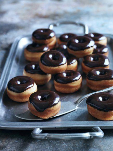 {Chocolate glaze donuts.}