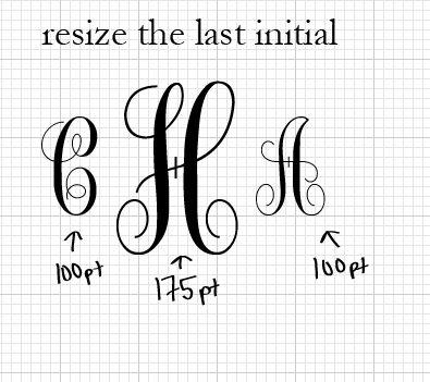 DIY Monograms