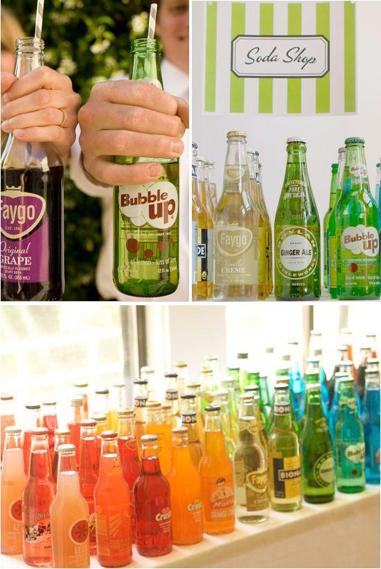 Soda Shop. Cute idea for a reception.