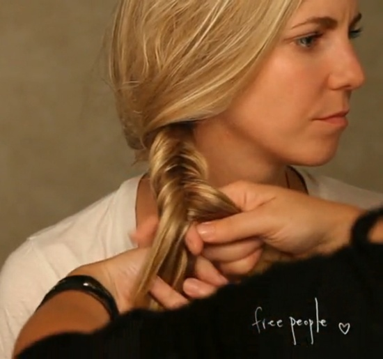 Fishtail braid how-to (video)