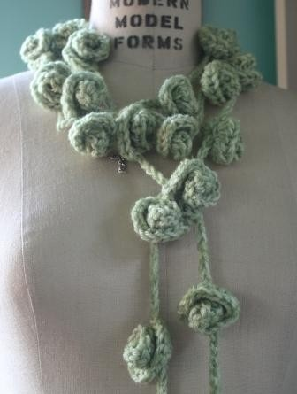 Lariat style scarf-lace