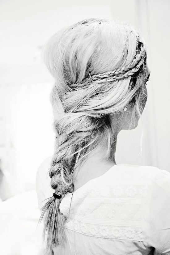This braided hairstyle