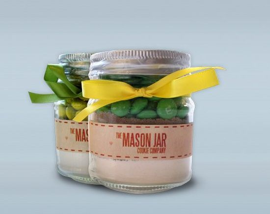 Mason Jar Cookie Mix Wedding Favors - By Elly B Events