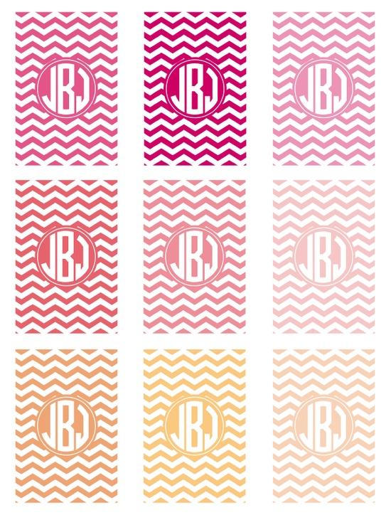 Chevron Monogram Phone Wallpaper - in lots of different colors by ForChicSake.com