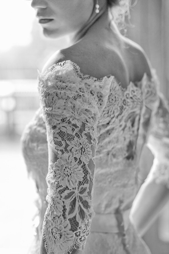I love lace, especially on a wedding dress!