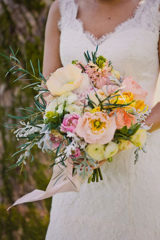 spring wedding bouquet // photo by Rebecca Amber Photography