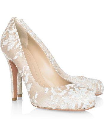 a pair of lace Alexander McQueen heels