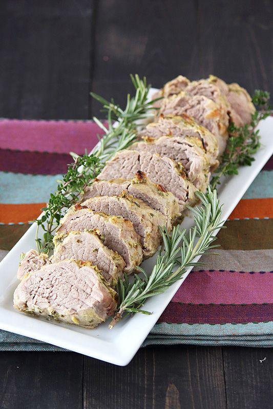 Handle the Heat » Herb, Garlic, and Dijon Pork Tenderloins