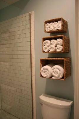 Towel Storage Idea #bathroom #storage #lancaster #PA abktoday.com
