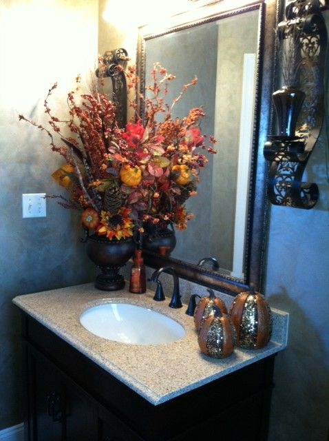 Fall decor/Bathroom decor