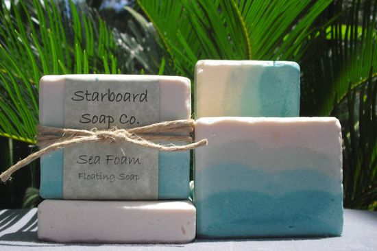 Sea Foam Whipped Floating Soap by StarboardSoapCo on Etsy, $7.00