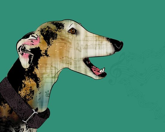 Greyhound Pop Art Print