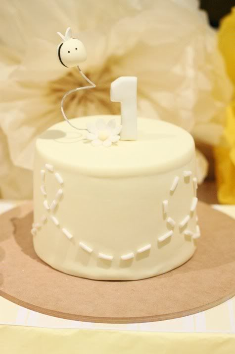 Cute Bee cake-light yellow