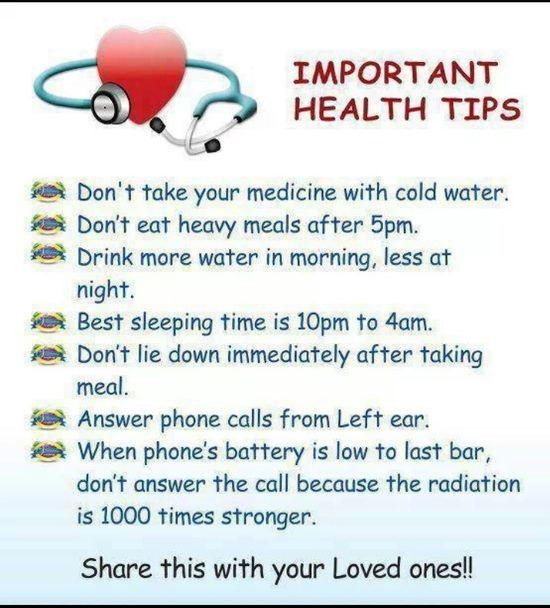 Important Health Tips
