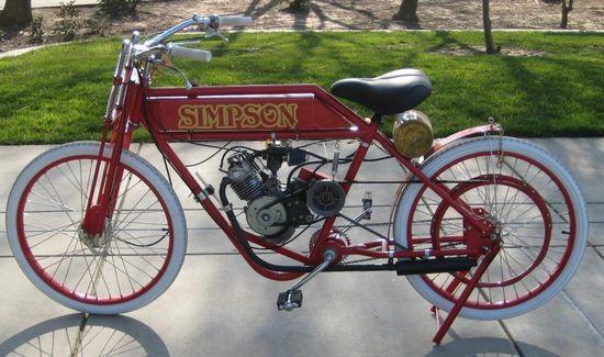 Vintage motorcycle tire styles