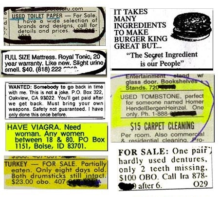 Funny ads and listings.