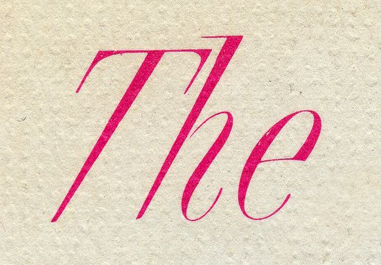 Lettering from an LP jacket.  The Silver Swan  1962   via Nathan Godding - flickr