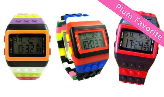 **Hot Deal** LEGO-Inspired Watches for only $9 - a Fun, Retro Holiday Gift! ($40 Value)  Details here?http://wp.me/p393eJ-6D1
