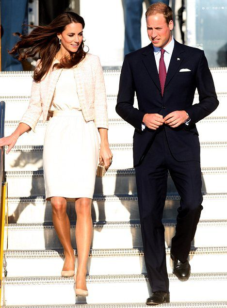 Duke and Duchess of Cambridge arriving in Charlottetown, Prince Edward Island.  Royal Tour 2011.  July 3, 2011.