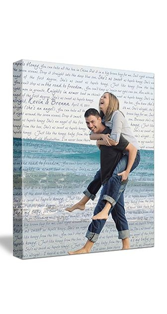 engagement photo on canvas. such a sweet keepsake!