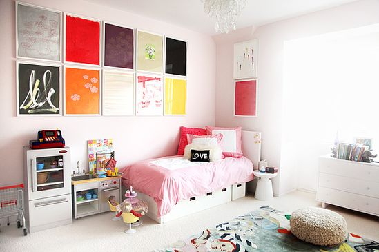Colorful artwork in the kids room via @TheGlow #Home #Kids #Interiors #Design