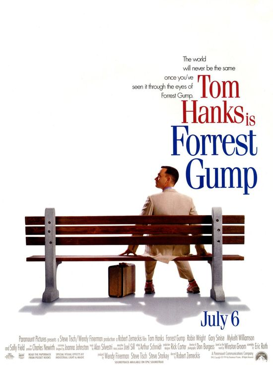 there are many great iconic movies from the 90's, but when i think of one in particular that was very successful and i can watch anytime, it's Forrest Gump.