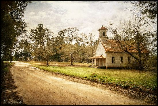 Old Country Church in Georgia~~  Down a forgotten road