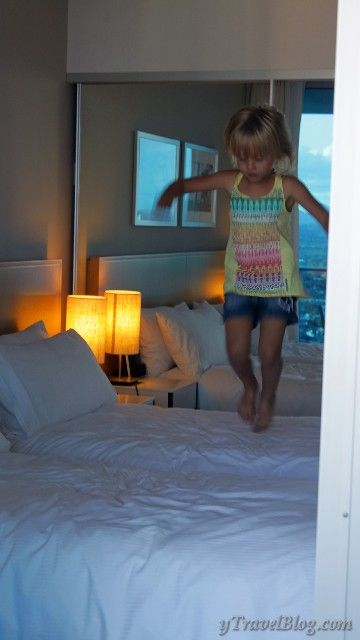 How to have fun in hotel rooms with your kids - sweet!