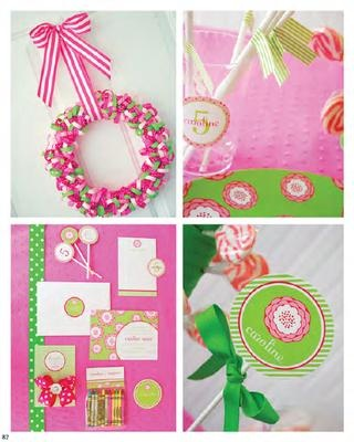 pink and green party inspiration