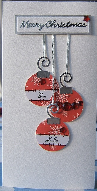 Handmade Christmas Card Baubles 2 by Osborne Signs & Wall Art, via Flickr