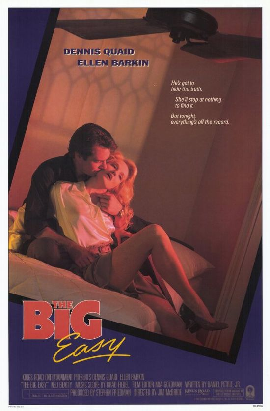 The Big Easy , starring Dennis Quaid, Ellen Barkin, Ned Beatty, John Goodman. Set in New Orleans. Remy McSwain, lieutenant in Homicide finds that he has two problems, the first of a series of gang killings and Ann Osborne... #Crime #Drama #Romance #Thriller