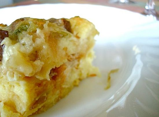 Savory Bread Pudding With Leeks and Mushrooms