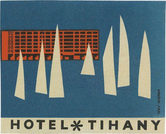 luggage label / Hotel Tihany  davidgeorgepearson