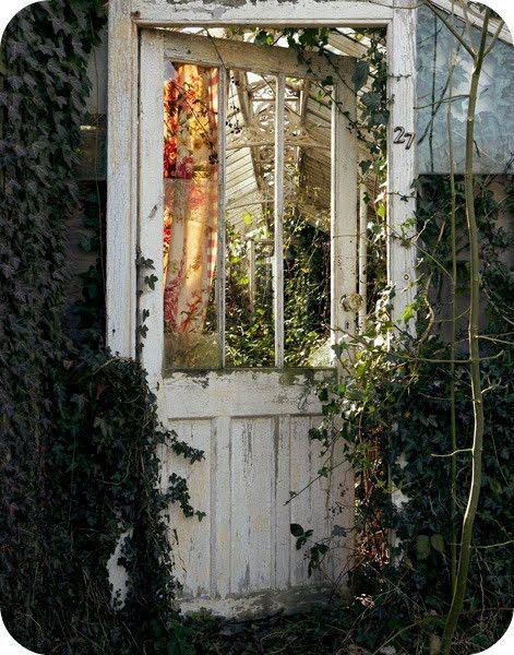 old door as garden gate!?