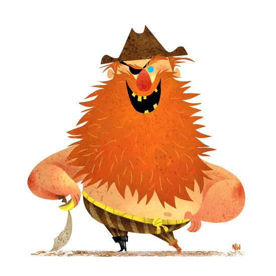 Nate Wragg Art and Illustration: Character Design Class - Pirates!