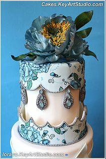 Modern Victorian Wedding Cake
