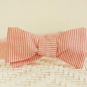 Orange Sherbert handmade Bow Tie