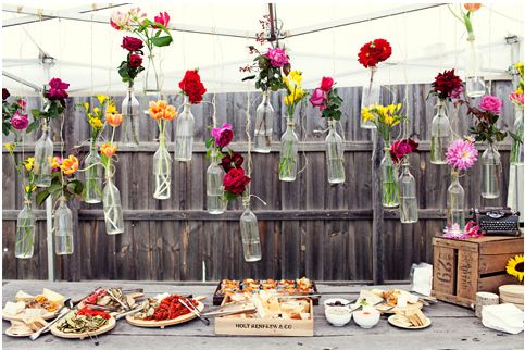 An outdoor wedding can't have enough florals! I love this idea!