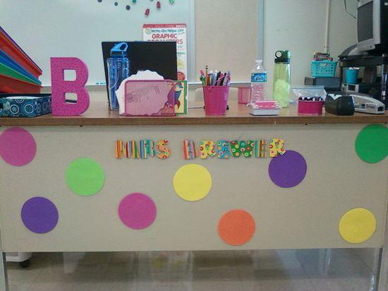 Polka Dot teacher's desk