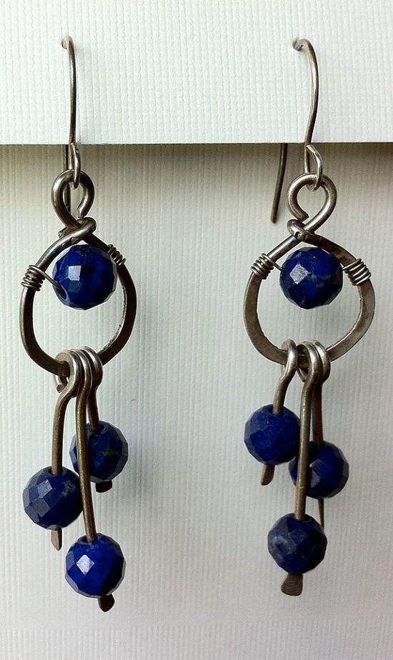 Lapis lazuli dangles  lapis lazuli beads with by anikosandor, $20.00