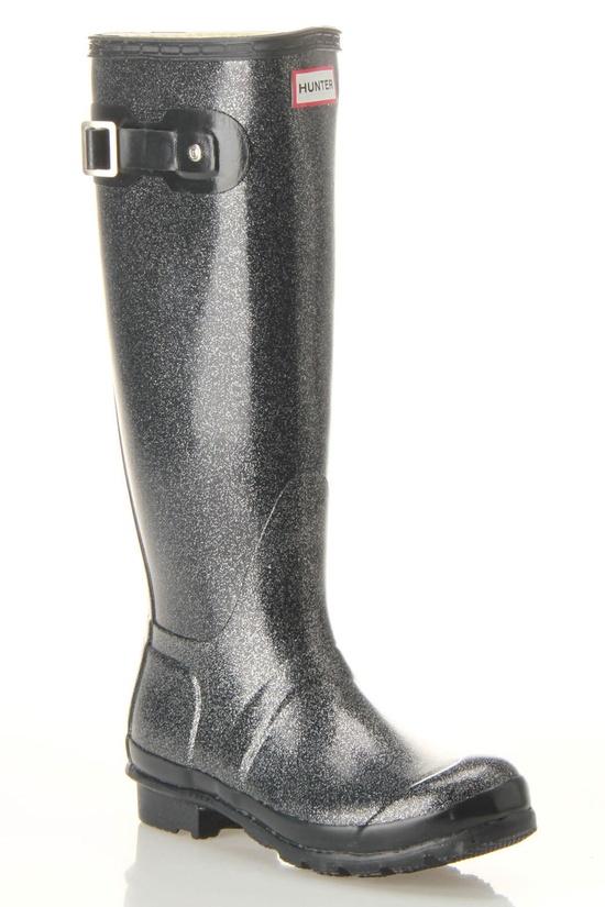 Hunter Original Glitter Rain Boots In Navy