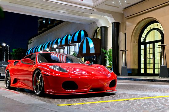 Ferrari at the Beverly Wilshire