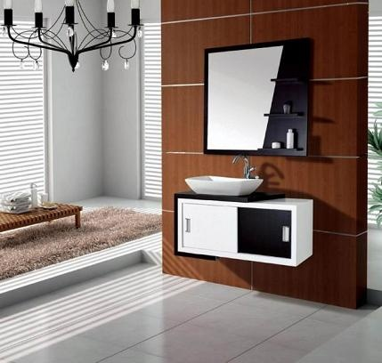 Black And White Bathroom Vanities: A High Contrast Modern Bathroom Design