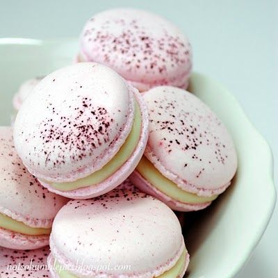 Again for any local fuctions, meetings or even where women get their Mamos. Great for Chemo and radiation treat s. Or those who those that our house bound. many more,  akt  Sweetly beautiful, deeply fragrant Rose Macarons (I adore rose flavoured foods!). #rose #pink #cookies #macarons #wedding #food #baking #cooking #dessert