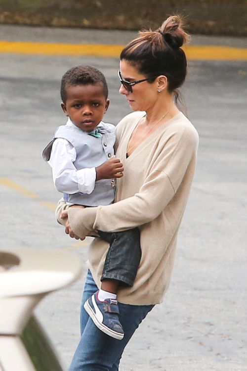 Sandra Bullock and Her Son