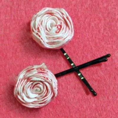 flower bobby pins, no sew