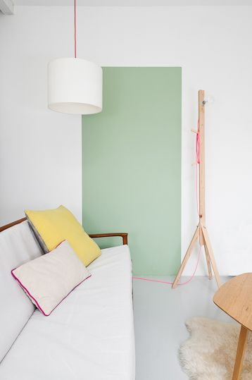 Mint Wall, Neon Accents