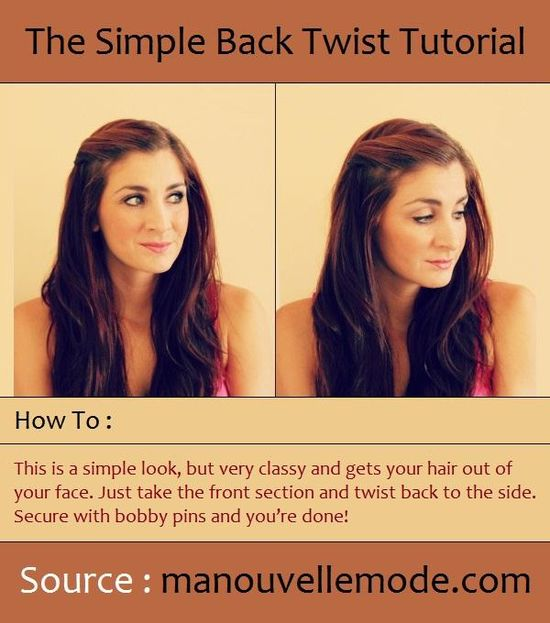 The Simple Back Twist Tutorial