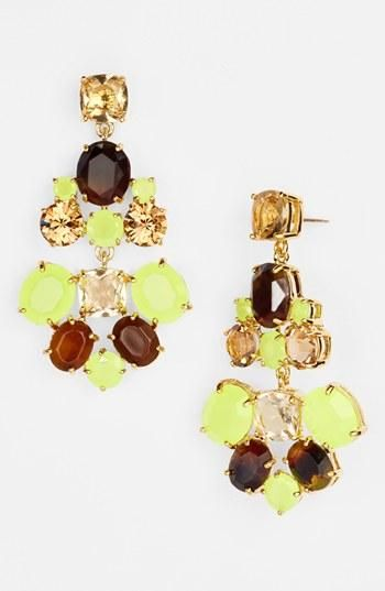 kate spade new york chandelier earrings in a fun color mix